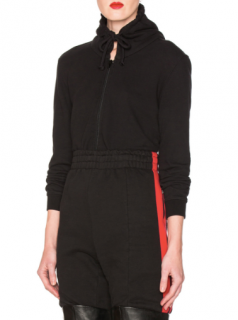 Vetements shrunken-fit black hooded sweatshirt