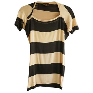 Vivienne Westwood Anglomania Striped Stretch Top