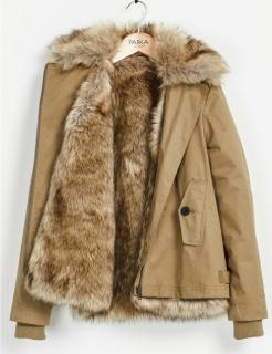 Parka London detachable faux fur lining parka