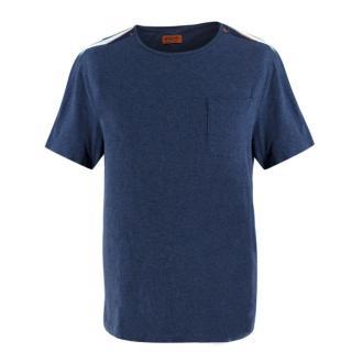Missoni striped-yoke cotton-jersey T-shirt