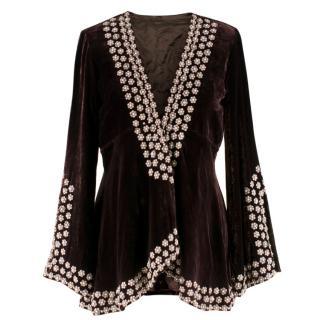 Bespoke embellished velvet jacket