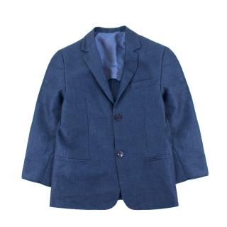 Harrods of London boys age 10 linen and cotton-blend blazer