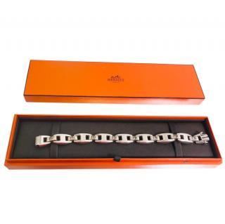 Hermes Silver & White Sapphire Bracelet