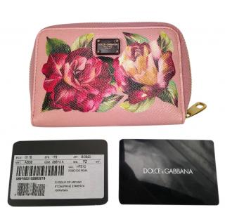 Dolce & gabbana rose printed wallet purse