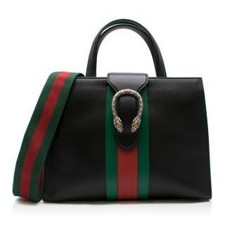 Gucci Dionysus Medium Web-striped leather top-handle bag