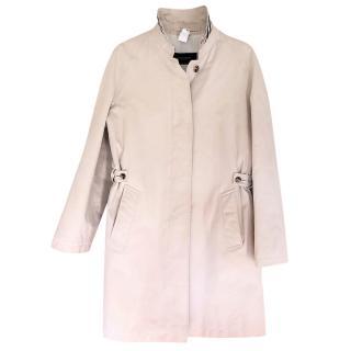 Burberry beige cotton padded coat
