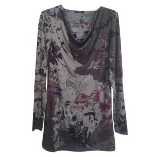 Max Mara Printed Waterfall Top