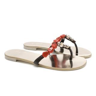 Giuseppe Zanotti embellished flat sandals