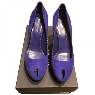 Sergio Rossi Purple Suede Pumps