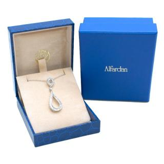 Al Fardan Fine Jewellery 18k White-Gold & Diamond Necklace