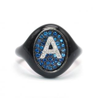Shima Azman Black 'A' Signet Ring - Made To Order