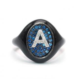 Shima Azman Black 'A' Signet Ring - Made To Order