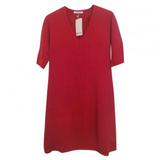 Max Mara knit red dress