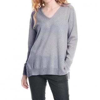 Max Mara Grey Knit Cashmere Sweater