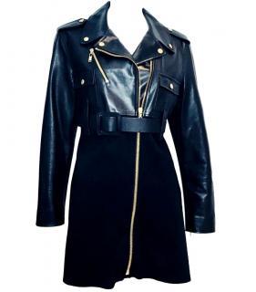 Louis Vuitton Leather & Wool Coat