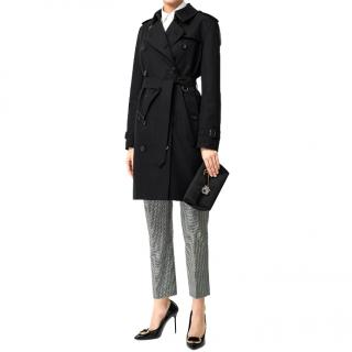 Burberry Black Classic Trench Coat
