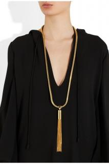 SAINT LAURENT Opium 8 gold-plated tassel necklace