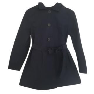 New Prada Navy Belted Trench Coat