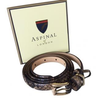 Aspinal snakeskin belt .