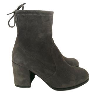 Stuart Weitzman Grey Ankle Boots