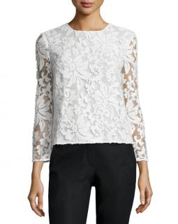 DVF Belle Sequined Floral Top