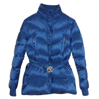 Just Cavalli blue quilted jacket