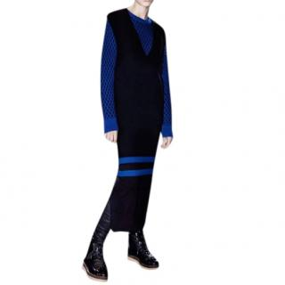 Alexander Wang Blue Stripe Black Knit Long Dress