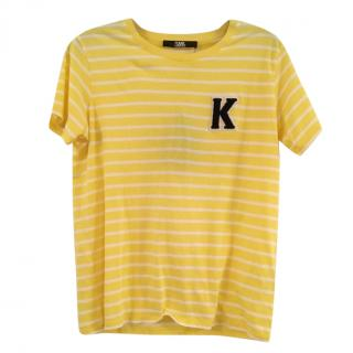 Karl Lagerfeld Yellow Striped T-Shirt