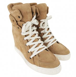 Casadei suede wedge ankle boots