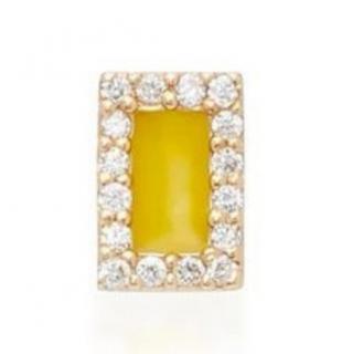 Alison Lou Diamond & Yellow Enamel Earring