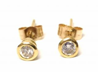 Bespoke Diamond Stud Earrings 18ct Gold