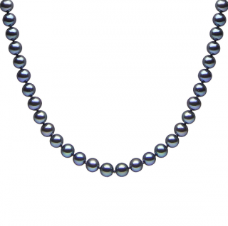 Bespoke Freshwater Black Pearl Necklace - 18ct Gold