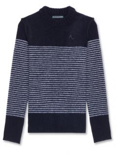 Alexa  Chung Navy Striped Jumper