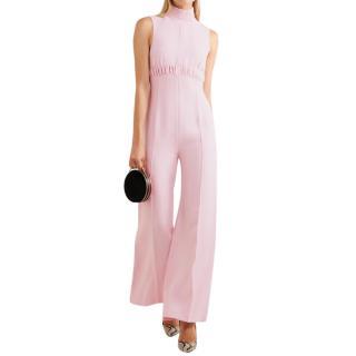 Emilia Wickstead The Hulla Pink Crepe Wide Legged Jumpsuit w/Tag