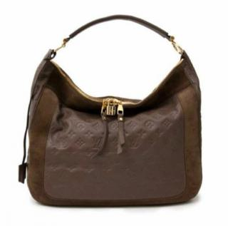 Louis Vuitton Monogram Empreinte Taupe Leather Hobo