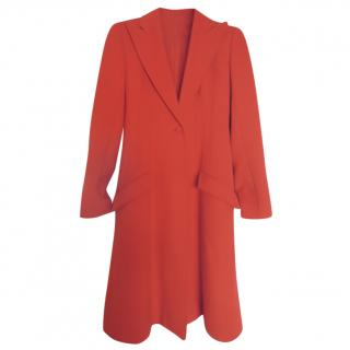 Valentino wool cashmere red coat