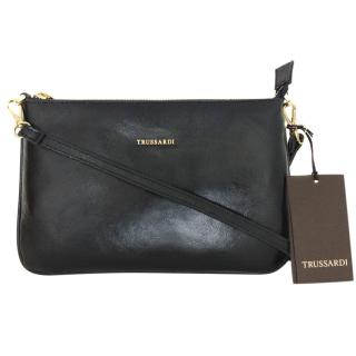 Trussardi black leather crossbody bag