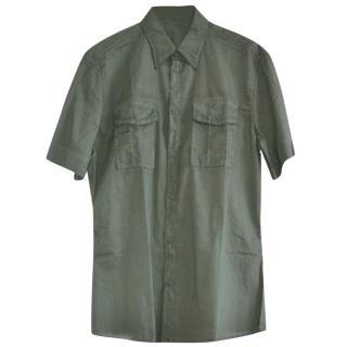 Bottega Veneta khaki cotton shirt