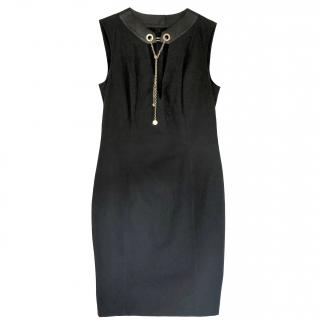 Gucci leather trimmed chain dress