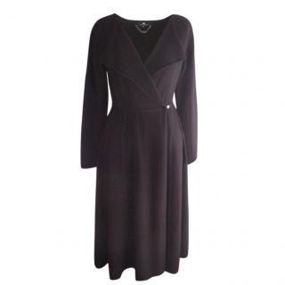 Elisabetta Franchi Black knitted coat dress