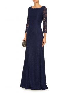 DVF Zarita Navy Lace Gown