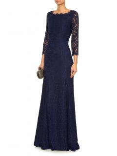 DVF Zarita Navy Lace Gown