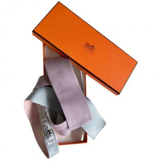 Hermes Silk Knit Reversible Tie