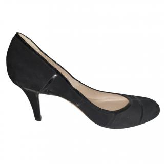 Christian Dior suede and patent leather court shoes
