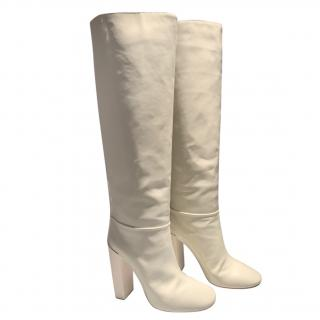 Chloe patent leather tall boots