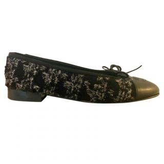 Chanel Boucle Tweed Ballet Flats