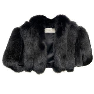 Valentino Black Fox Fur Bolero