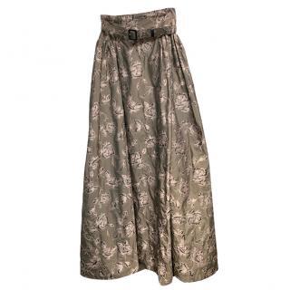 Alexander Terekhov silk floral maxi skirt