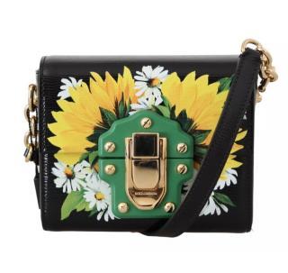 Dolce & Gabbana Black floral Lucia bag
