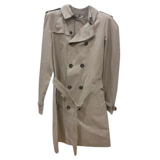 Burberry men's dark beige long trench coat